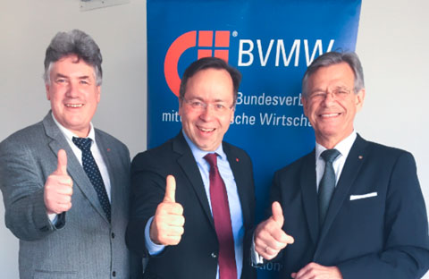 BVMW-Stiftung: Rüdiger Eisele, Patrick Meinhardt und Werner Krüger