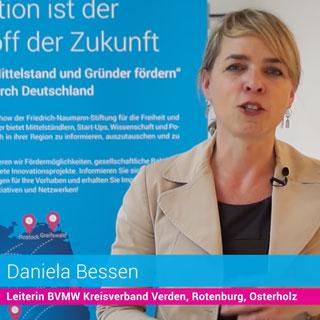 """Daniela Bessen auf der Roadshow """"Innovationsoffensive. Mittelstand und Gründer."""""""