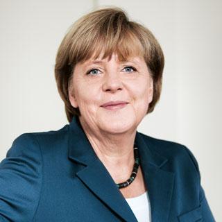 Portrait der Bundeskanzlerin Angela Merkel