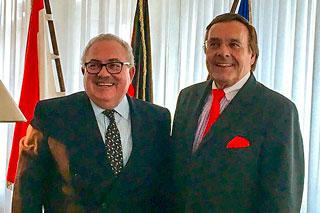 Mittelstandspräsident Mario Ohoven mit dem Botschafter Mexikos in Deutschland, Rogelio Granguillhome Morfín