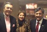 Spitzen Treffen zwischen Mario Ohoven und dem pakistanischen Handelsminister Pervaiz Malik