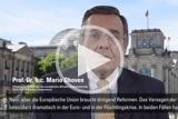 In seinem monatlichen Podcast spricht Mittelstandspräsident Prof. Dr. h. c. Mario Ohoven über den dringenden Reformbedarf der Europäischen Union.