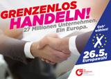 Der BVMW und Ströer machen sich mit einer Außenwerbekampagne für eine hohe Wahlbeteiligung bei der Europawahl statt.