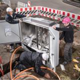 Die Telekom informiert über den Ausbau der Glasfasernetze.