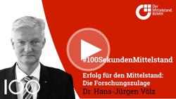 BVMW Chefvolkswirt Dr. Hans-Jürgen Völz zur steuerlichen Forschungsförderung.