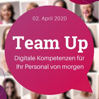 _Gemeinsam digital lädt zum Event Team Up.