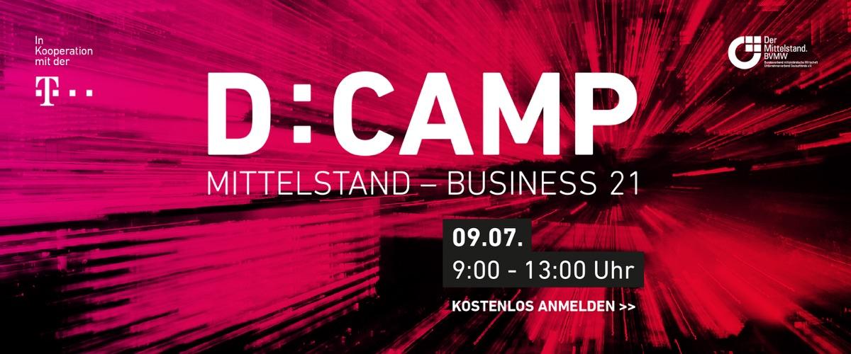 """Melden Sie sich an zur kostenlosen Digitalkonferenz """"D:CAMP""""."""