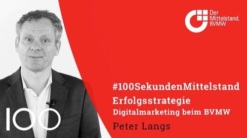 Peter Langs, Leiter Marketing und Events, zum Online-Marketing und zu Digitalen Medien beim BVMW.