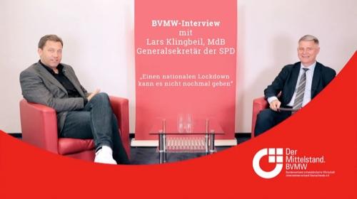Lars Klingbeil MdB, Generalsekretär der SPD, spricht mit Bundesgeschäftsleiter Andreas Jahn über die Coronakrise.