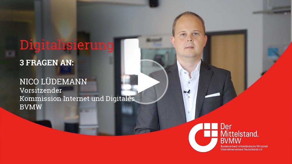 3 Fragen zur Digitalisierung an Nico Lüdemann, Vorsitzender der Kommission Internet und Digitales