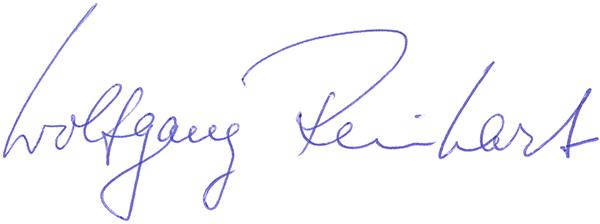 Unterschrift Wolfgang Reinhart