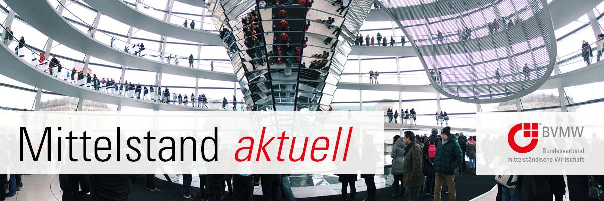 Mittelstand aktuell, Aufgang in der Reichstagskuppel