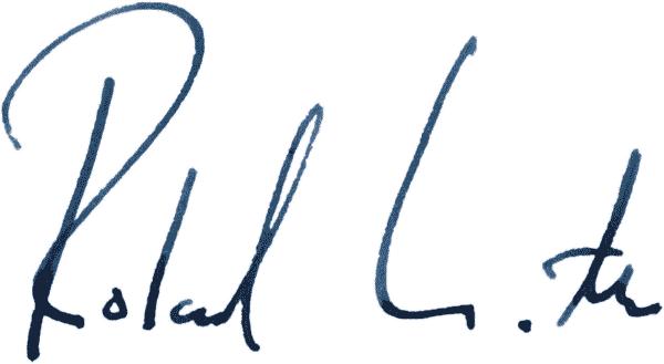 Unterschrift von Prof. Dr. Roland Wöller
