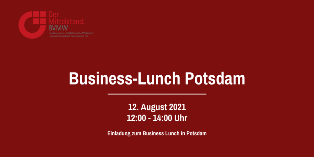 Business-Lunch in Potsdam