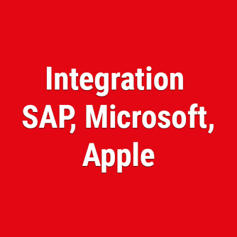 Integration SAP, Microsoft, Apple