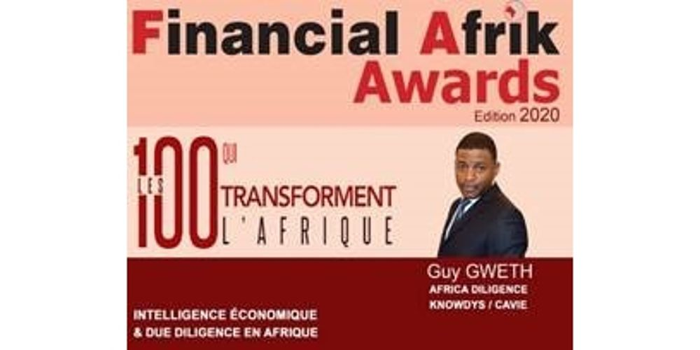 Guy Gweth Financial Afrik Awards