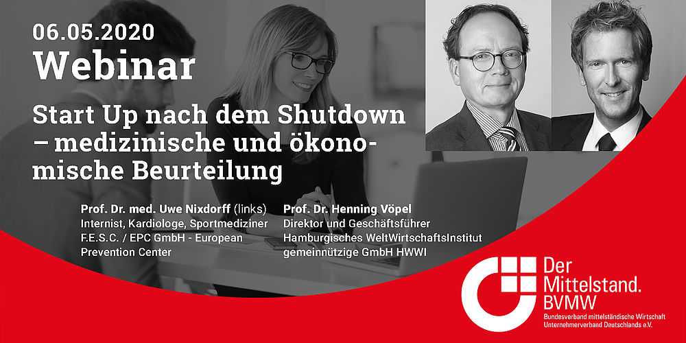 Webinar: Start Up nach dem Shutdown