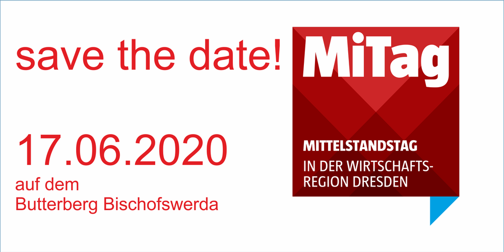 save the date - 20. MiTag - Mittelstandstag