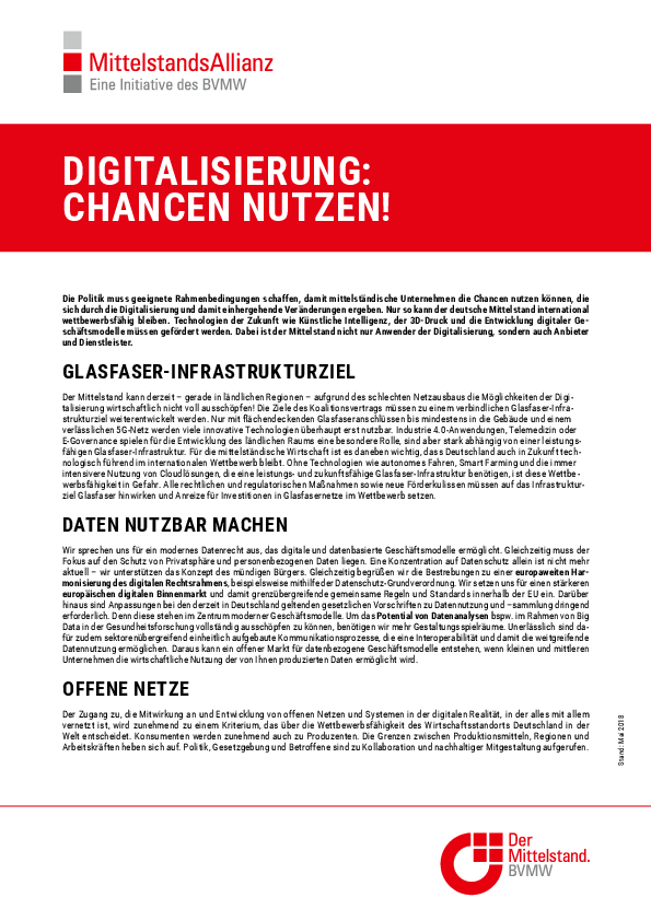 Positionspapier Digitalisierung