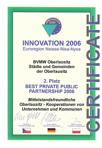 2. Platz BEST PRIVAT PUBLIC PARTNERSHIP 2006